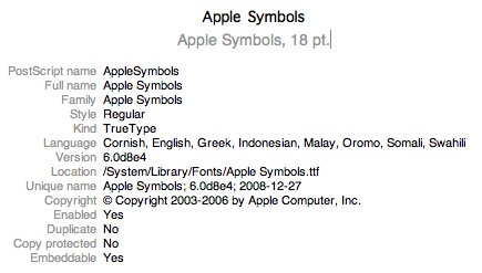 The Apple Symbols Font: A Great Repository for iPhone Button Icons