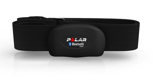 The Polar H7 Bluetooth heart rate chest strap sensor