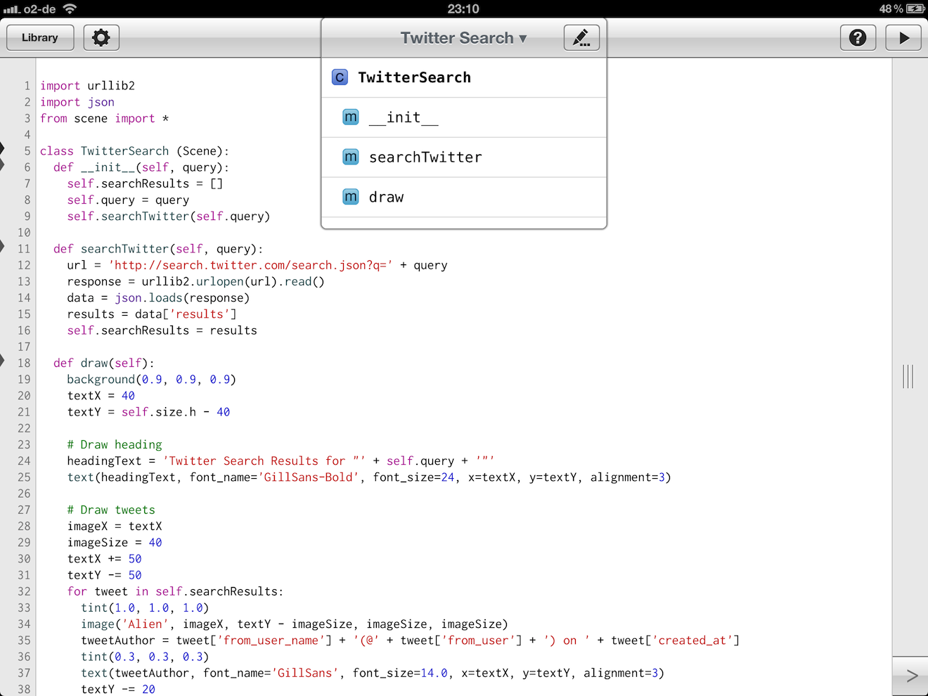 Pythonista Source Code Editor