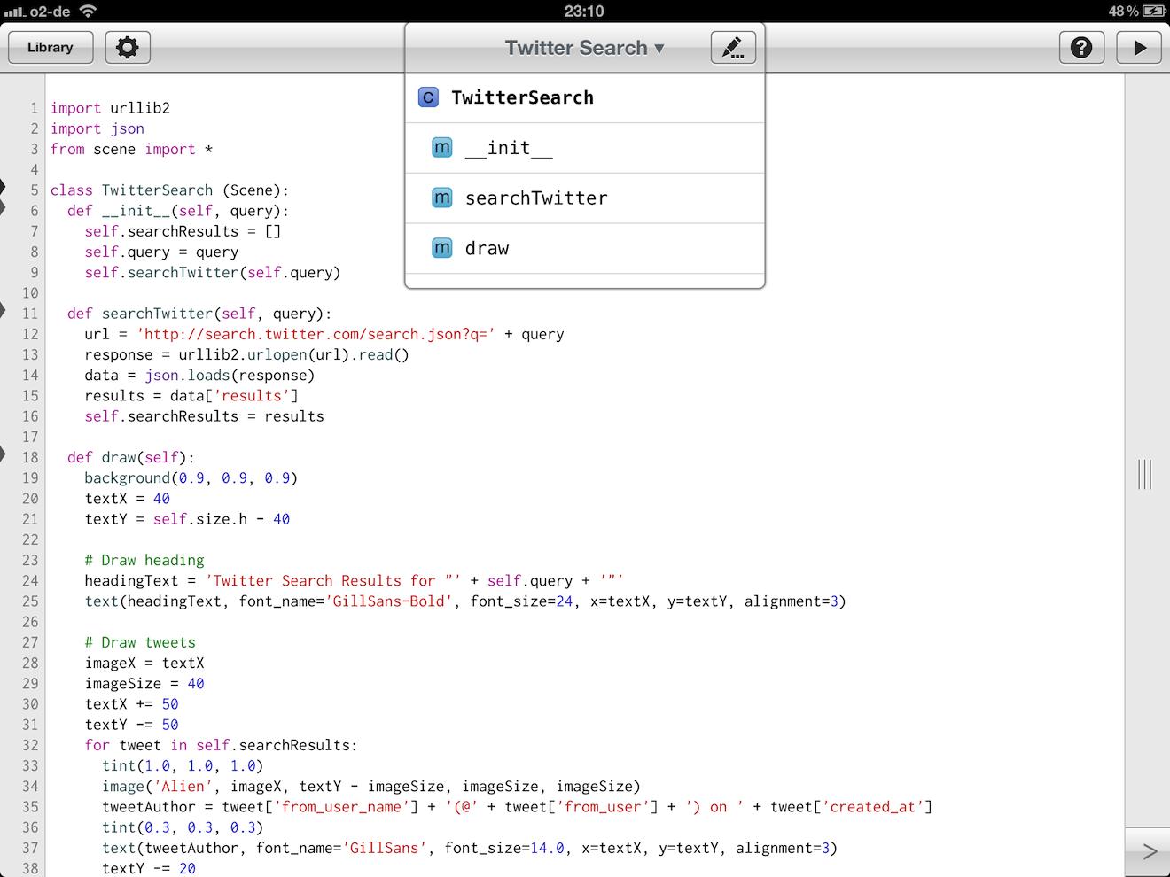 Write api in python code