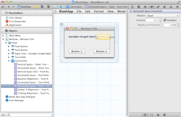Editing Cocoa Autolayout constraints in Interface Builder in Xcode 4.1