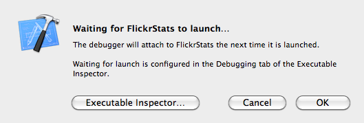 Xcode: Debugger waiting for app to launch
