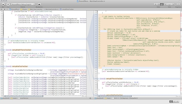 The Xcode 4 Version Editor